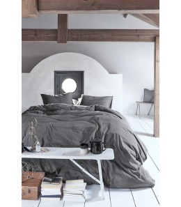 HOUSSE DE COUETTE NATURAL STONE ANTHRACITE