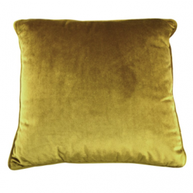 Coussin moutarde en velours
