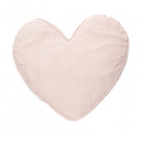 Coussin coeur rose Brunelli